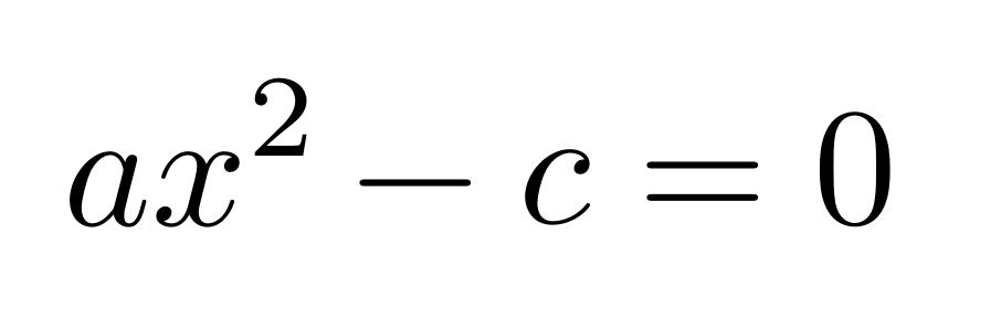 ecuación cuadrática con coeficiente b igual a cero | totumat.com