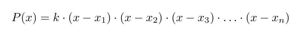Polinomio factorizado de Grado n | totumat.com