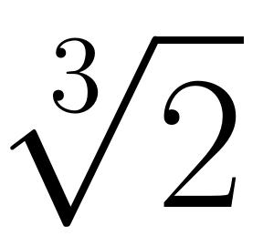 raíz cúbica de dos | totumat.com