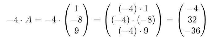 Multiplicación de una matriz por un escalar | totumat.com