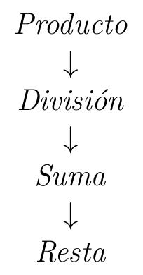 La jerarquía de las operaciones | totumat.com