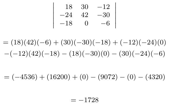 Determinante de multiplicar un escalar por una matriz | totumat.com