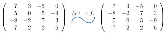 Intercambio de Filas de una matriz | totumat.com