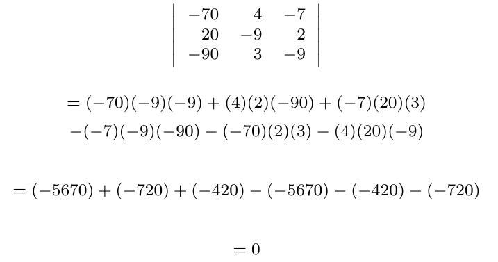 Determinante de una matriz con fila o columna proporcional a otra | totumat.com