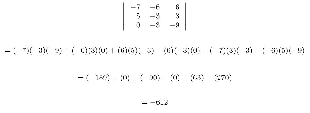 Determinante de una matriz con filas o columnas linealmente dependientes | totumat.com