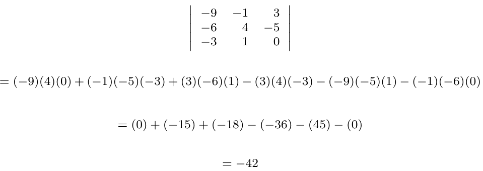 Determinante de una matriz con filas o columnas sumadas | totumat.com