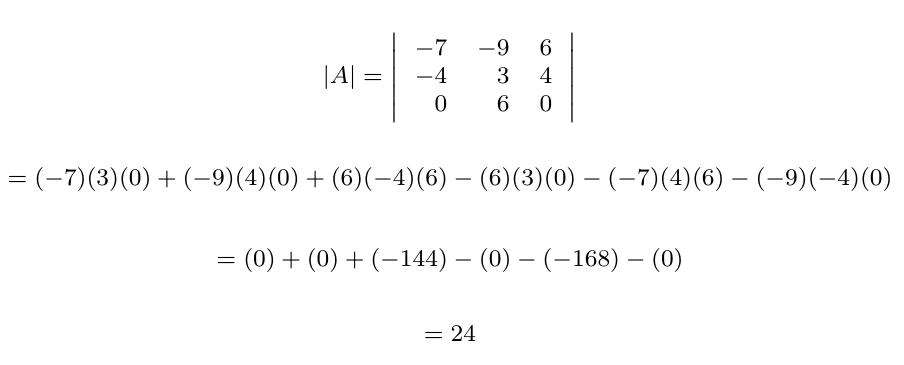 Determinante de una matriz con suma de filas o columnas multiplicadas por un escalar | totumat.com