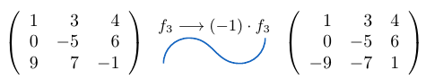 Multiplicar una fila de una matriz por un escalar | totumat.com