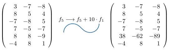 Sumar una fila de una matriz multiplicada por un escalar | totumat.com