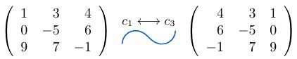 Intercambio de columnas de una matriz | totumat.com