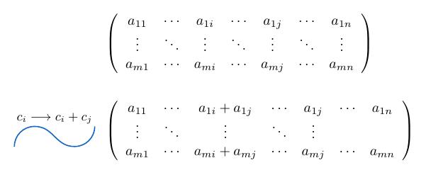 Suma de columnas de una matriz | totumat.com