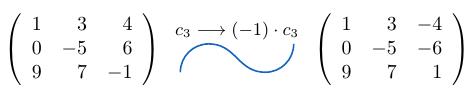 Multiplicar una columna de una matriz por un escalar | totumat.com