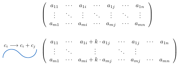 Sumar una columna de una matriz multiplicada por un escalar | totumat.com