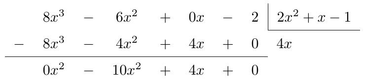 División de Polinomios | totumat.com