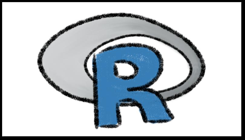 Logotipo de R dibujado a la mano