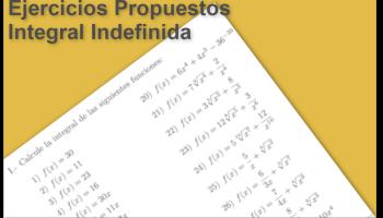 Ejercicios Propuestos Integral Indefinida