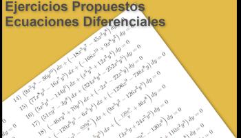 Ejercicios Propuestos - Ecuaciones Diferenciales